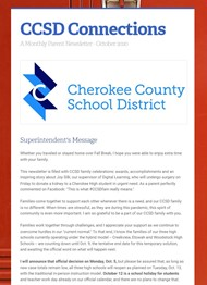 image - CCSD Connections parent newsletter Oct 2020
