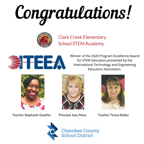 2020 ITEEA Program Excellence Award - Clark Creek ES STEM Academy 1 31 20