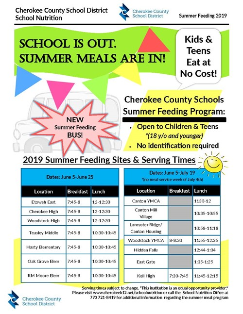 CCSD 2019 Summer Feeding Program