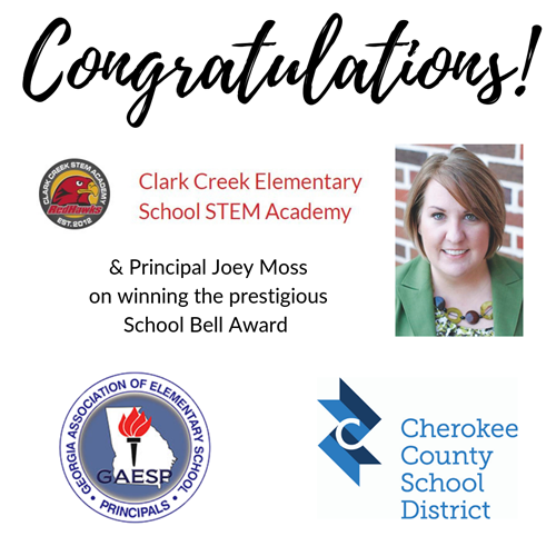 clark creek school bell award 7 22 19