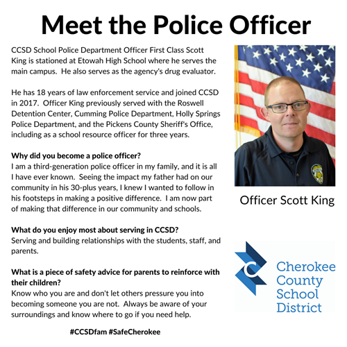 Meet the Officer Scott King 2 24 20