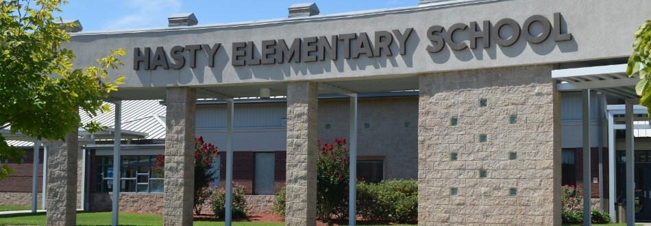 Front of Hasty Elementary