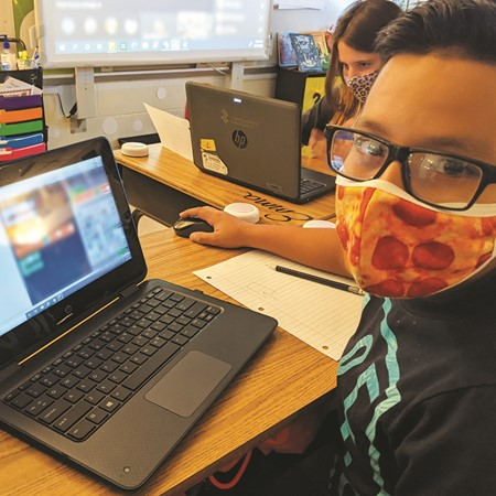 Saul Galindo-Medina tries out the new Minecraft world.