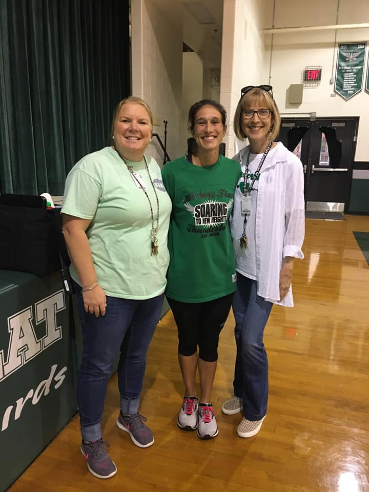 Coach Snow with Mrs. Nolan and Mrs. Estep
